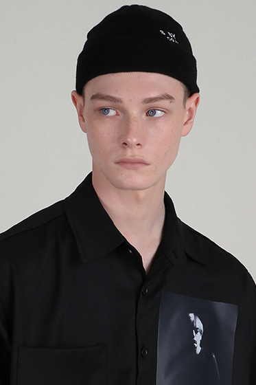 [sold out] ssy co needlework watch cap black