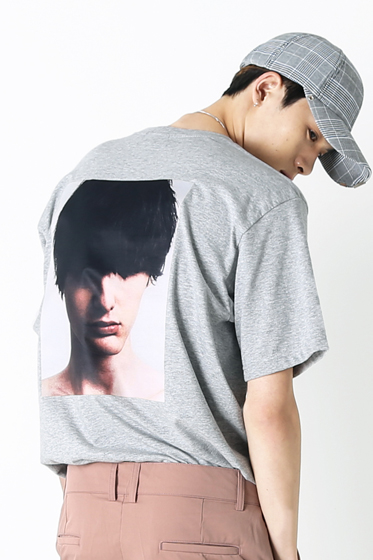 hiddenface t-shirt grey