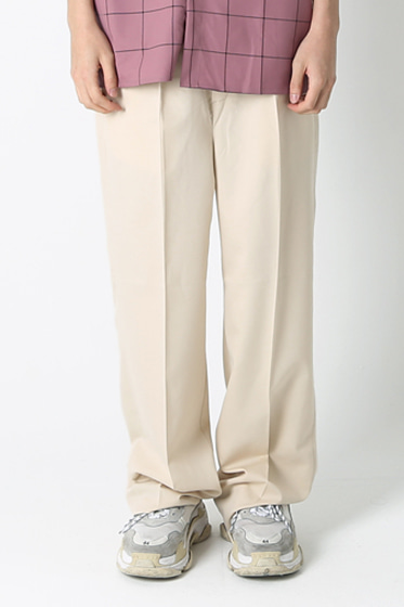 essential over wide pants ivory