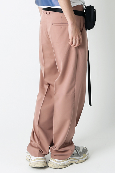 essential over wide pants pink