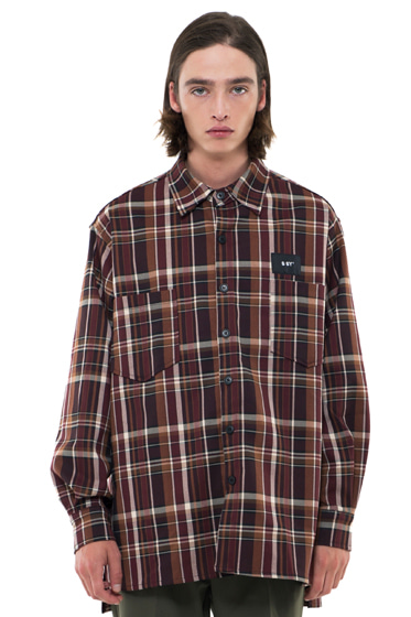 prime oversize sunset check shirt