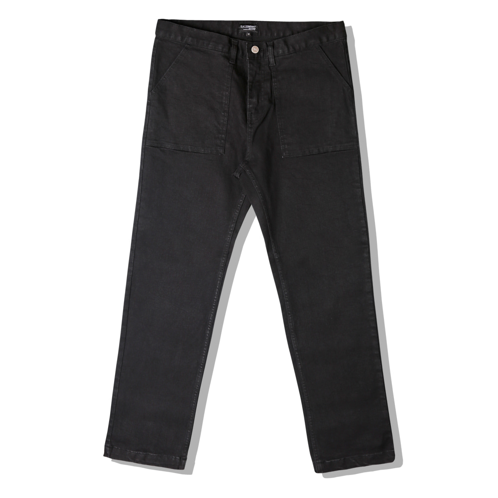 BLACK WIDE FATIGUE PANTS