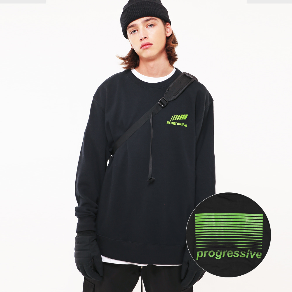 PROGRESSIVE GRAPHIC SWEAT SHIRTS BK