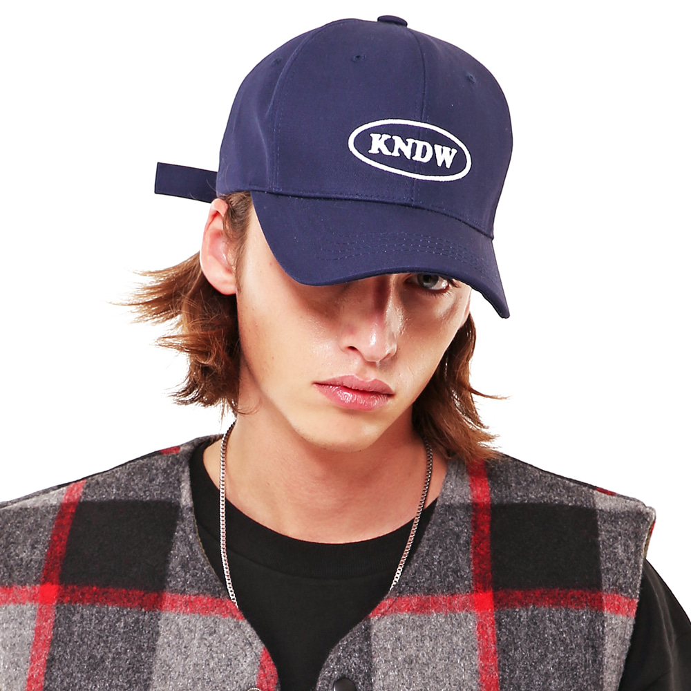 KNDW LOGO TWILL COTTON CAP NAVY