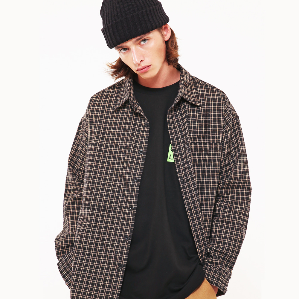 WINDOW PANE OVERSIZE CHECK SHIRTS