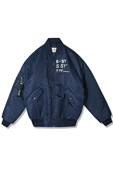 company logo original airplane ma-1 jacket navy