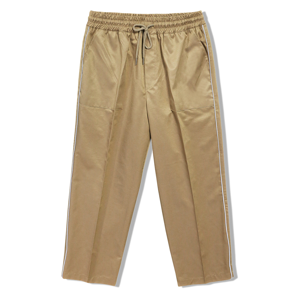 REFLECTION LINE WIDE PANTS BEIGE 3M scotchlite