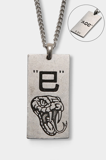 [sold out] SQUARE SNAKE CHAIN NECKLESS (SILVER BURNISH)