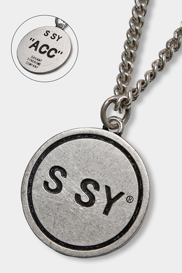 [sold out] SSY PENDANT NECKLESS (SILVER BURNISH)