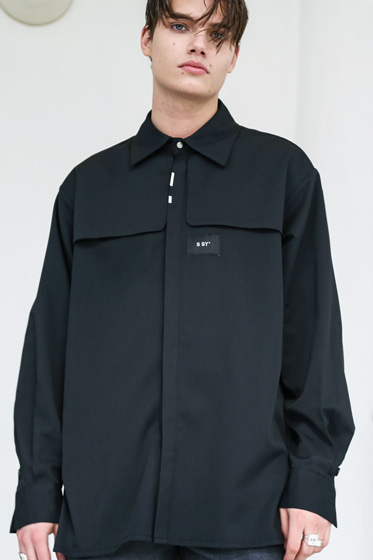 IRON TIP TRENCH SHIRT BLACK
