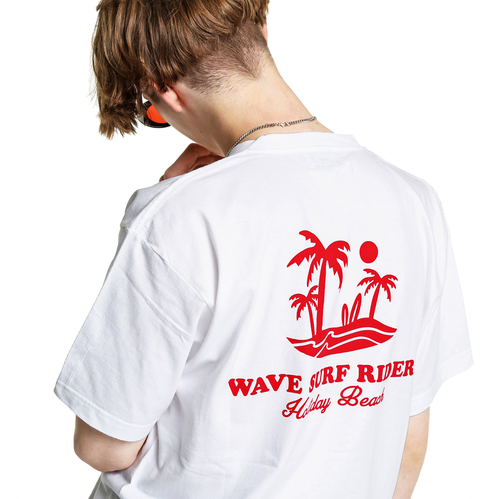 WAVE SURF GRAPHIC T-SHIRT WHITE