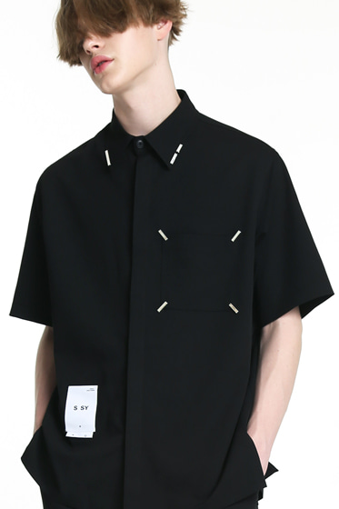 IRON TIP HALF SHIRT BLACK