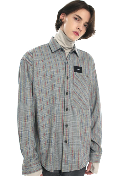 rainbow check basic shirt
