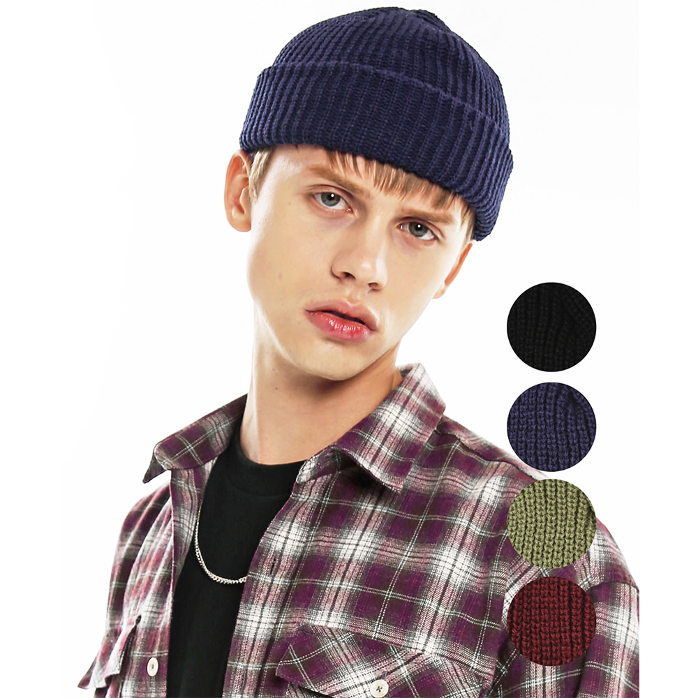 LABEL KNIT WATCH CAP 4 COLOR