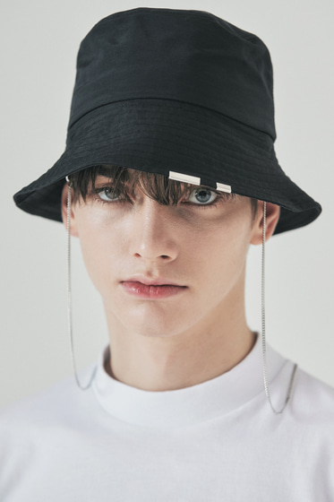 2way chain bucket hat nylon type black