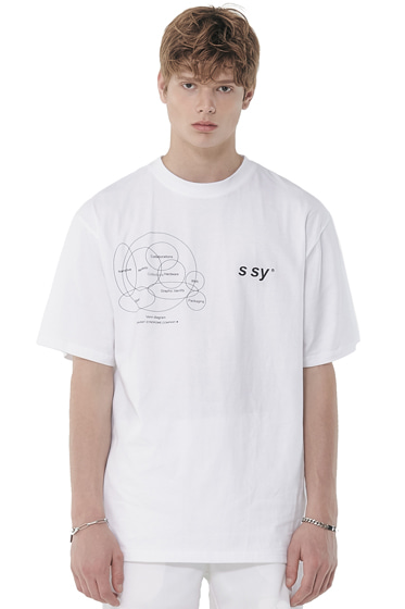 venn diagram t-shirt white