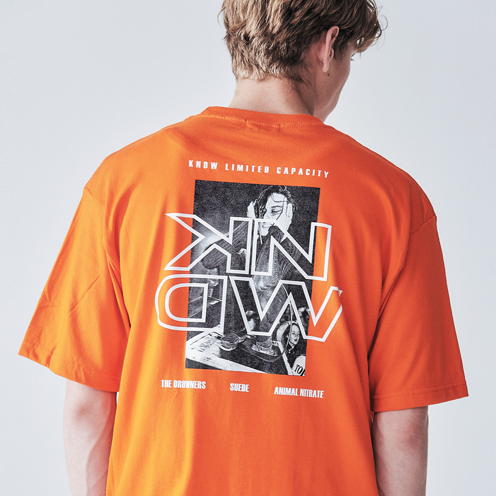 DROWNERS GRAPHIC T-SHIRT ORANGE