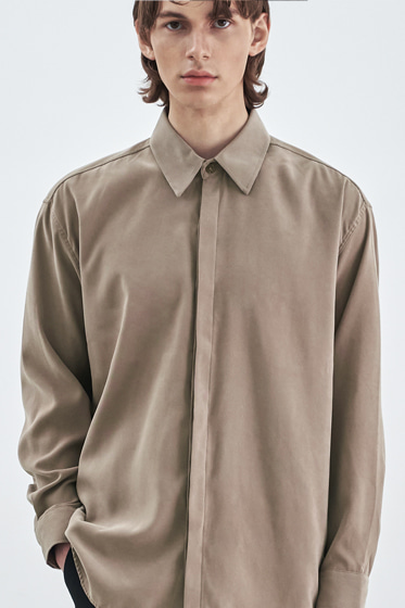 SUPREME TOUCH RELAXED FIT SHIRT BEIGE
