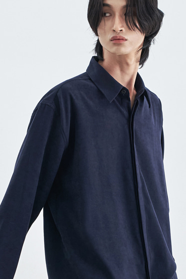 SUPREME TOUCH RELAXED FIT SHIRT NAVY